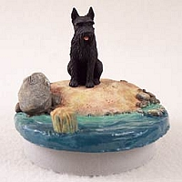 Schnauzer Giant Black Candle Topper Tiny One
