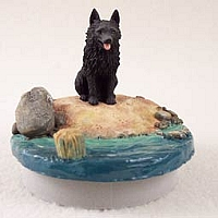 Schipperke Candle Topper Tiny One