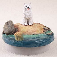 American Eskimo Candle Topper Tiny One