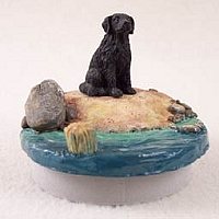 Flat Coated Retriever Candle Topper Tiny One