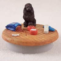 Poodle Chocolate Candle Topper Tiny One