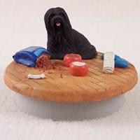 Lhasa Apso Black Candle Topper Tiny One