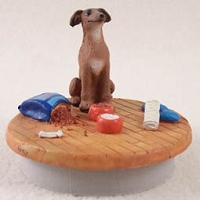 Italian Greyhound Candle Topper Tiny One