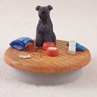 Kerry Blue Terrier Candle Topper Tiny One