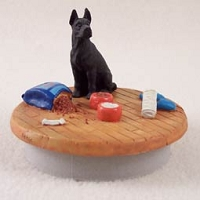 Great Dane Black Candle Topper Tiny One