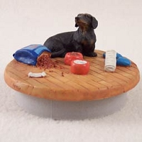 Dachshund Black Candle Topper Tiny One