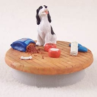 Springer Spaniel Black & White Candle Topper Tiny One