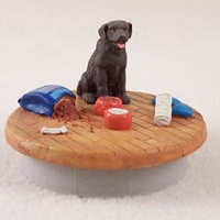 Labrador Retriever Chocolate Candle Topper Tiny One