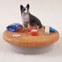 Welsh Corgi Cardigan Candle Topper Tiny One