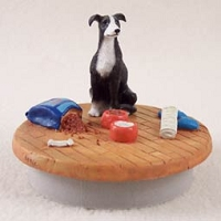 Greyhound Black & White Candle Topper Tiny One