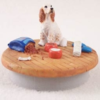 English Setter Belton Orange Candle Topper Tiny One