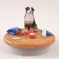 Australian Shepherd Tricolor Candle Topper Tiny One