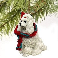 Poodle White Original Ornament