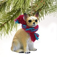 Chihuahua Tan & White Original Ornament