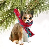 Chihuahua Brindle & White Original Ornament