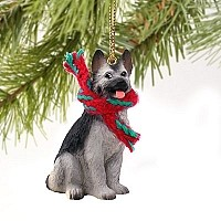 German Shepherd Black & Silver Original Ornament
