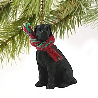 Great Dane Black w/Uncropped Ears Original Ornament