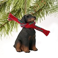 Doberman Pinscher Red w/Uncropped Ears Original Ornament