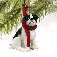 Jack Russell Terrier Black & White w/Smooth Coat Original Ornament