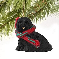 Lhasa Apso Black Original Ornament