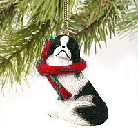 Japanese Chin Black & White Original Ornament