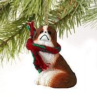 Japanese Chin Red & White Original Ornament