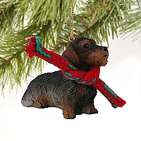 Wire Haired Dachshund Red Original Ornament