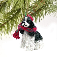 Cocker Spaniel Black & White Original Ornament