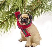 Pug Fawn Original Ornament