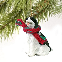 Springer Spaniel Black & White Original Ornament