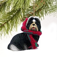 Shih Tzu Black & White Original Ornament