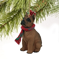Boxer Tawny Original Ornament