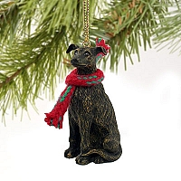 Greyhound Brindle Original Ornament