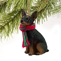 Miniature Pinscher Tan & Black Original Ornament