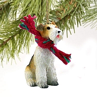 Wire Fox Terrier Red Original Ornament