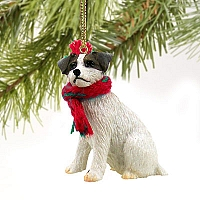Jack Russell Terrier Brown & White w/Rough Coat Original Ornament