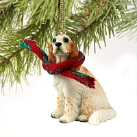 English Setter Belton Orange Original Ornament