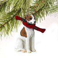 Whippet Brindle & White Original Ornament