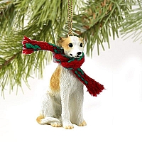 Whippet Tan & White Original Ornament