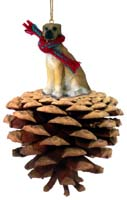 Great Dane Fawn w/Uncropped Ears Pinecone Pet Ornament
