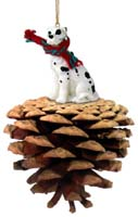 Great Dane Harlequin w/Uncropped Ears Pinecone Pet Ornament
