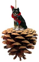 Alaskan Malamute Pinecone Pet Ornament