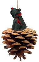Kerry Blue Terrier Pinecone Pet Ornament
