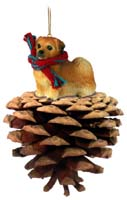 Tibetan Spaniel Pinecone Pet Ornament
