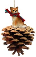 Chihuahua Longhaired Pinecone Pet Ornament