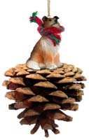 Collie Sable Pinecone Pet Ornament