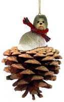 Shih Tzu Mixed Pinecone Pet Ornament