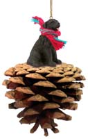 Newfoundland Pinecone Pet Ornament
