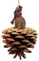 Boxer Tawny Pinecone Pet Ornament