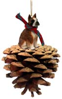 Boxer Brindle Pinecone Pet Ornament